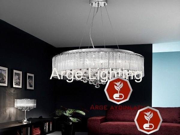Cam çubuklu avize abajur modeli-ARG/FR15