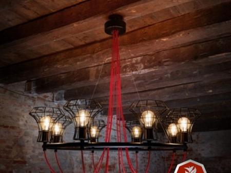 Özel tasarım tel avize imalatı
