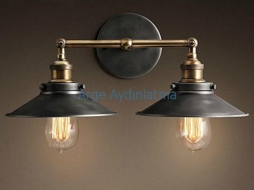 Vintage dekoratif aydınlatma aplik