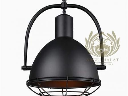 retro sıvama alüminyum cafe siyah bar aydınlatma imalatı modeli vintage- Arg-81720