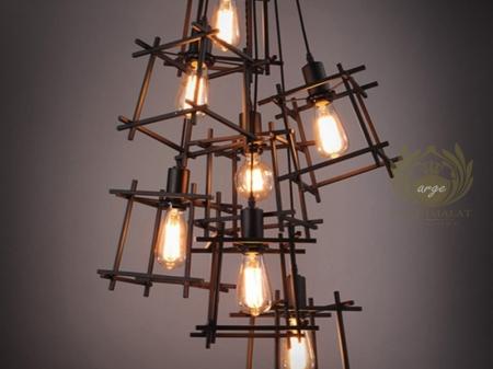 otel aplik modelleri loft endüstriyel cafe restoran aydınlatma tel aplik duvar modeli imalatı-arg851921